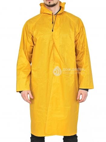 Плащ-дождевик модный жёлтый ПВХ