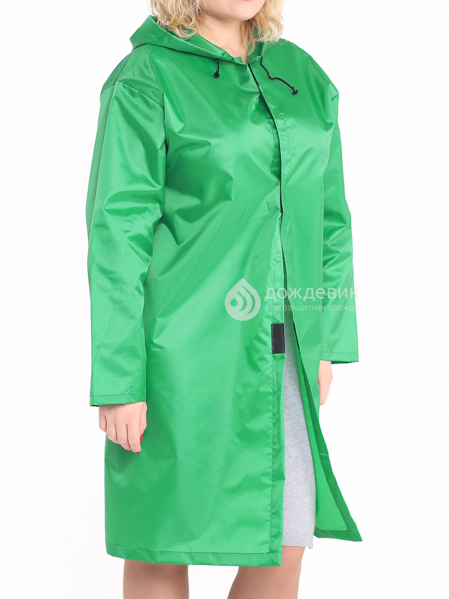 Плащ-дождевик тканевый зеленый Оксфорд