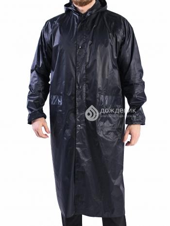 Плащ-дождевик тканевый ПВХ тёмно-синий