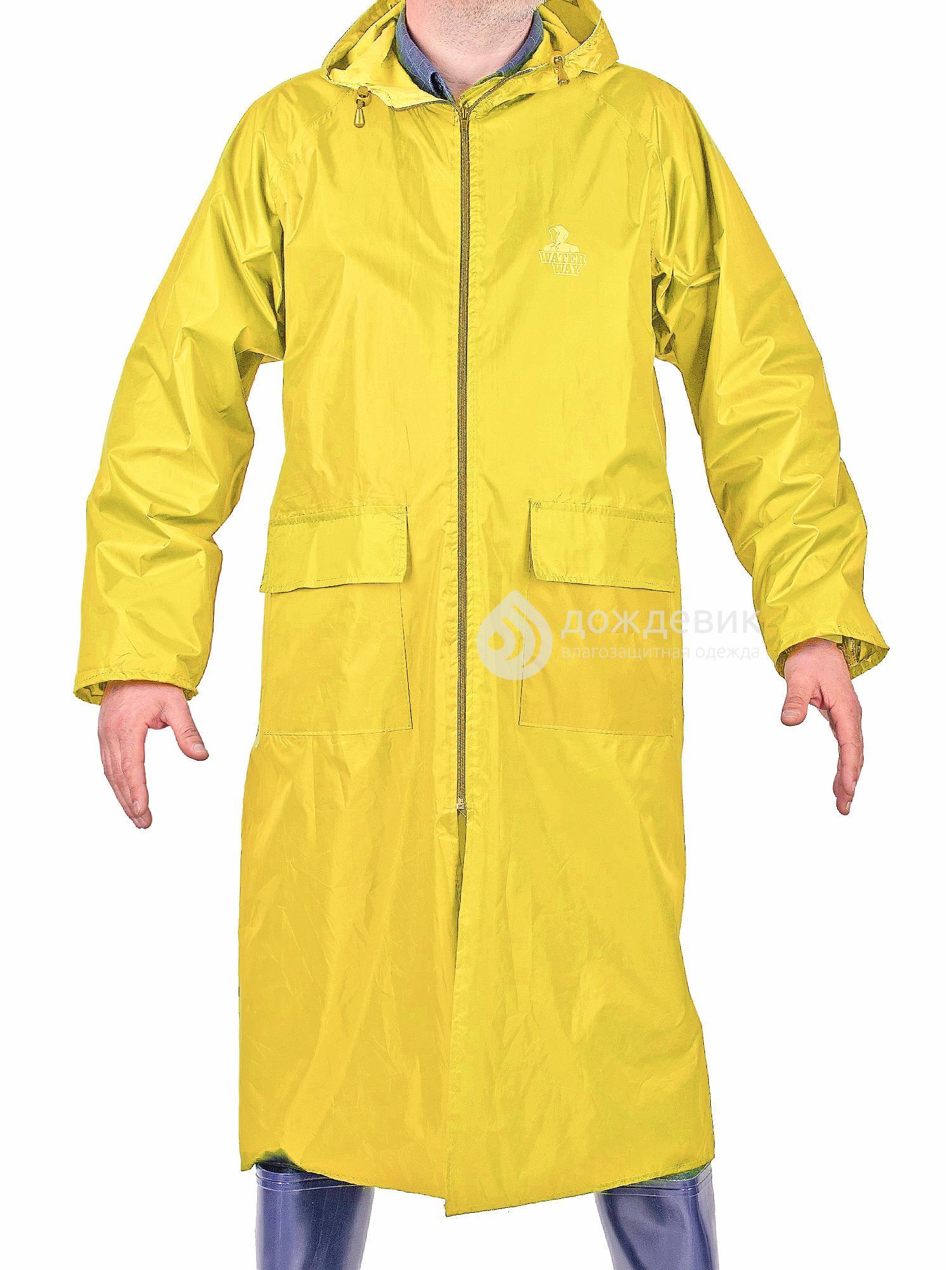 Плащ-дождевик WaterWay нейлоновый желтый