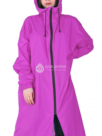 Плащ-дождевик «Ультра» модный с высоким воротом фиолетовый