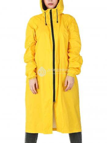 Плащ-дождевик «Ультра» модный с высоким воротом желтый