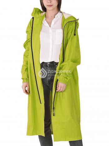 Плащ-дождевик «Ультра» модный с высоким воротом трава