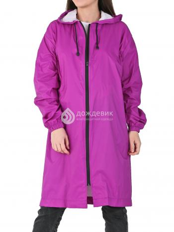 Плащ-дождевик «Ультра» модный непромокаемый на молнии фиолетовый